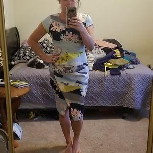 Bar III color block asymmetrical dress
